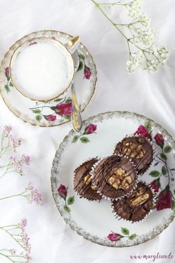Rezept Walnuss-Schoko-Muffins mit Ahornsirup