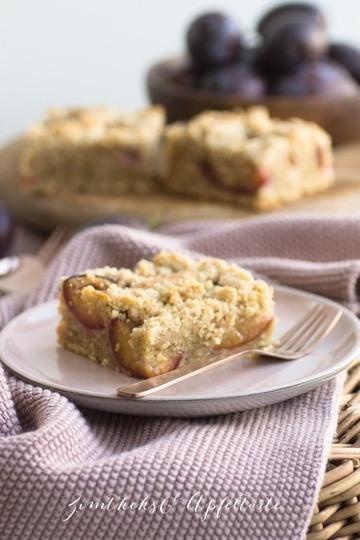 Rezept Walnuss-Zwetschgenkuchen mit Zimtstreuseln