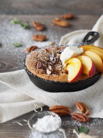 Rezept Warmer Cookies mit Pekannüssen und Nektarine
