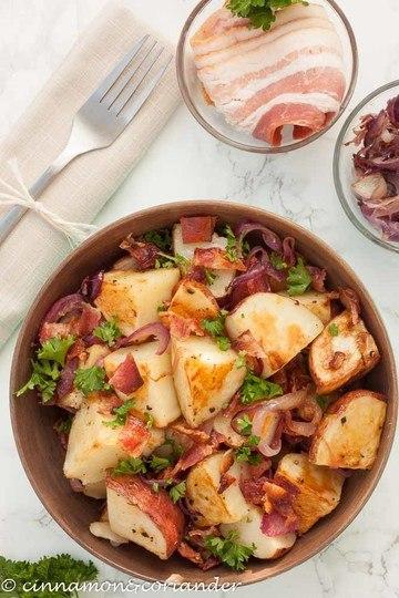 Rezept Warmer Kartoffelsalat mit Bacon Vinaigrette