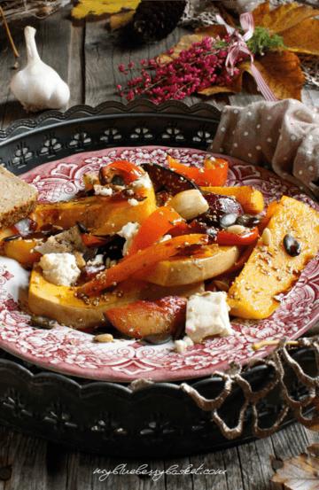 Rezept Warmer Kürbissalat mit Feta