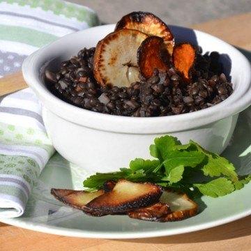 Rezept Warmer Linsensalat mit Topinambur