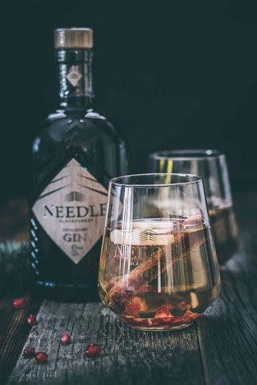 Rezept Warmer Winter Gin: köstlich fruchtig mit Needle Blackforest Gin