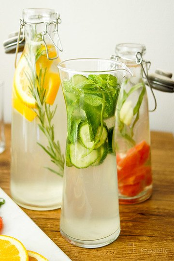 Rezept Wasser mit Geschmack selbst gemacht