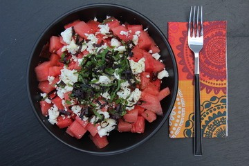 Rezept Wassermelonen-Feta-Salat