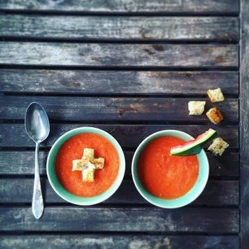 Rezept Wassermelonen Gazpacho