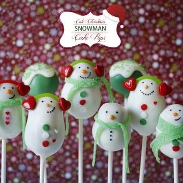 Rezept {Weihnachten} Schneemann Winter Cake Pops reloaded