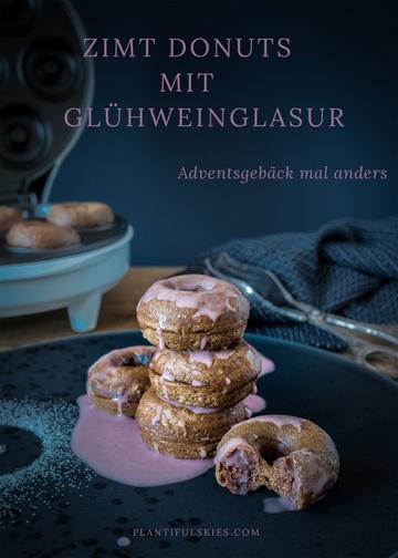Rezept Weihnachtliche Dinkel Donuts mit Zimt und Glühwein Glasur