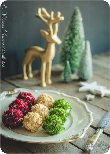 Rezept Weihnachtliche Frischkäsebällchen