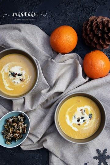 Rezept Weihnachtliche Karotten-Creme-Suppe