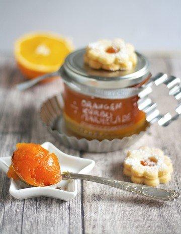 Rezept Weihnachtliche Marmelade mit Kürbis, Orange und Apfel