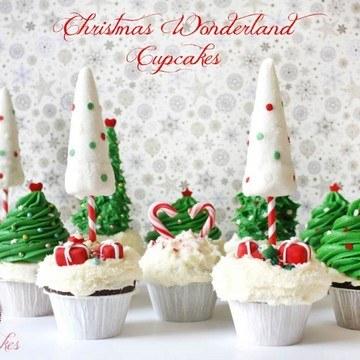 Rezept Weihnachts Winter Wunderland: Cupcakes