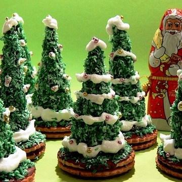 Rezept Weihnachtsbäumchen aus Schokolade