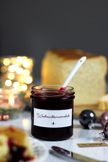 Rezept Weihnachtsmarmelade mit Cranberries, Orange und Zimt