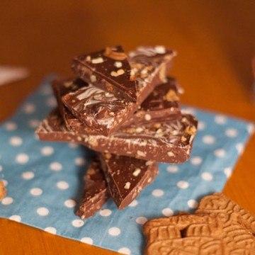 Rezept Weihnachtsschokolade mit Spekulatius