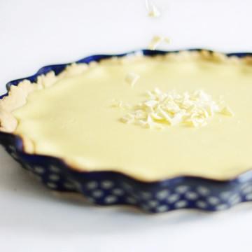 Rezept Weiße Schokoladentarte
