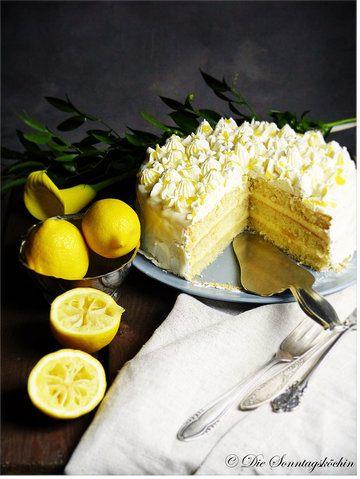 Rezept Weiße Vanillecreme Torte mit Lemon Curd