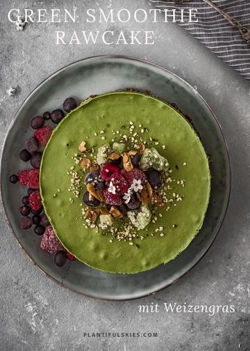 Rezept Weizengras Green Smoothie Rawcake