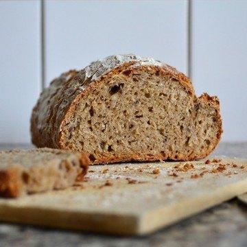 Rezept Weizenvollkornbrot mit Haferflocken und Leinsaat