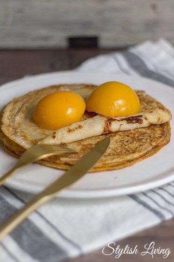 Rezept Weltbeste Pfannkuchen mit Pfirsich