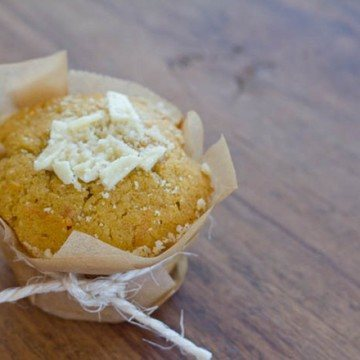 Rezept White Chocolate Pumpkin Muffins