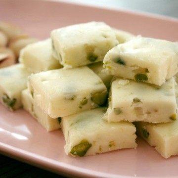 Rezept White Fudge mit Pistazien und Meersalz