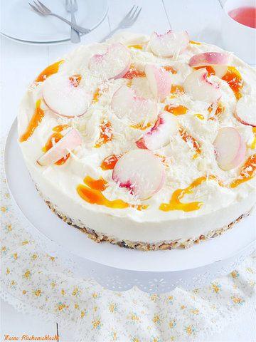 Rezept Wildpfirsich no bake Cheese Cake mit Aprikosen Sauce