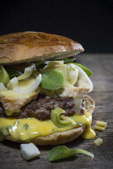 Rezept Wildschweinburger mit fermentiertem Lauch und Bärlauchmayonnaise