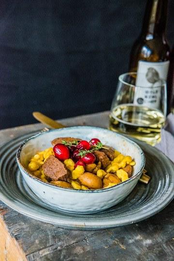 Rezept Wildschweingulasch mit fruchtigem Cider