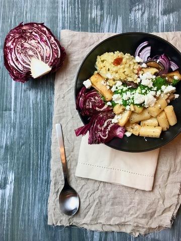 Rezept Winterliche Bowl mit Graupen, Schwarzwurzeln und Pilzen