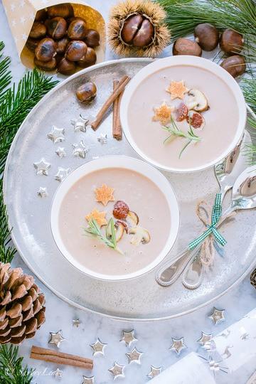 Rezept Winterliche Maronensuppe mit Chorizo und Champignons