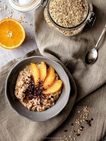 Rezept Winterliches Porridge deluxe mit Kakao und Orangen