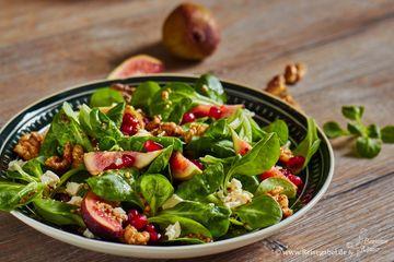 Rezept Wintersalat mit Senfvinaigrette und Feigen