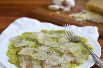 Rezept Wirsing Carpaccio mit Lardo und Pecorino