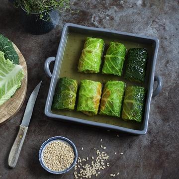 Rezept Wirsing Kürbis Päckchen mit Tsampa