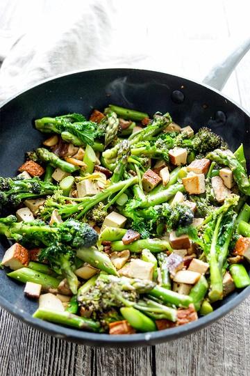 Rezept Wok-Gemüse-Pfanne mit geräuchertem Tofu