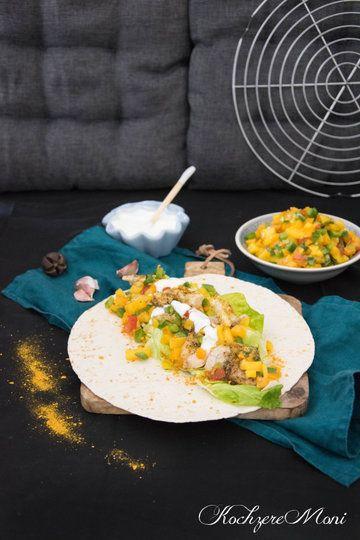 Rezept Wraps mit Currypute, Mangosalsa und Knoblauchjoghurt