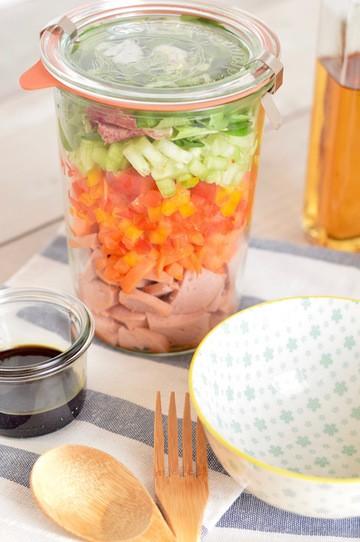 Rezept Wurstsalat im Glas