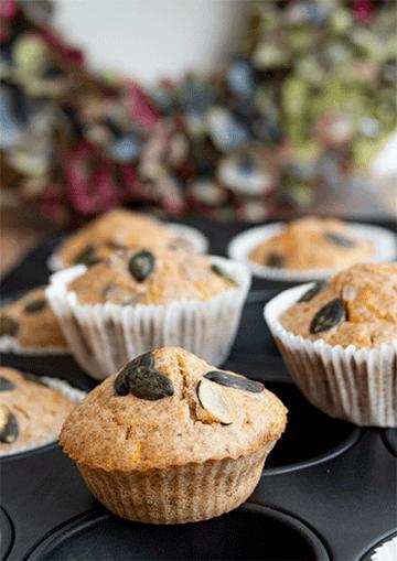 Rezept Würzige Kürbis-Muffins mit Cranberries