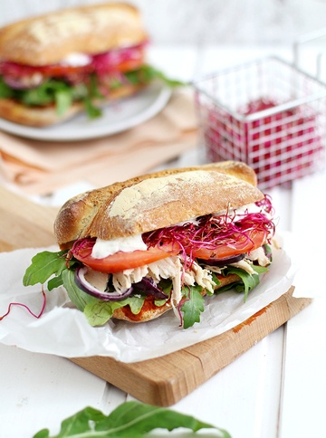 Rezept Würziges Pulled Chicken Sandwich