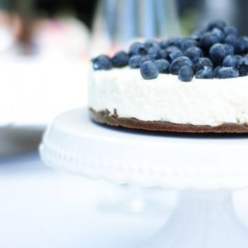 Rezept Ziegenfrischkäse-Torte mit Heidelbeeren