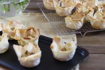 Rezept Ziegenkäse-Feigen Muffins aus Filo-Teig