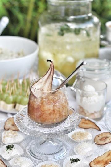 Rezept Ziegenkäsepralinen mit Birnenchutney und Birnenchips