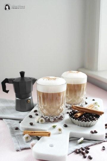 Rezept Zimtschnecken Latte Macchiato | Cinnamon Roll Latte Macchiato mit Zimtschnecken-Sirup