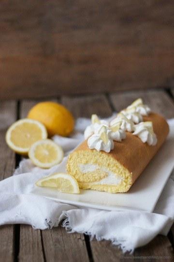 Rezept Zitronen Biskuitroulade