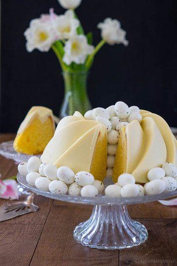 Rezept Zitronen-Buttermilch-Gugelhupf mit weißer Schokolade