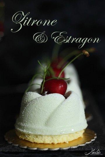Rezept Zitronen-Estragon Törtchen mit Kirschen