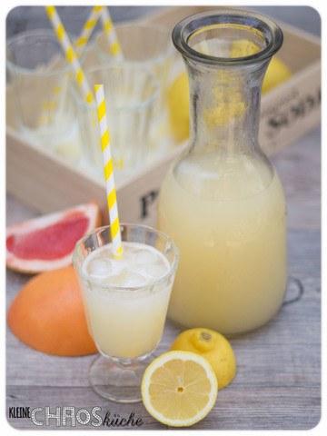 Rezept Zitronen Grapefruit Limonade