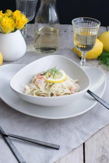 Rezept Zitronen Lachs Pasta