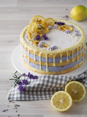 Rezept Zitronen-Lavendel-Torte mit weißer Schokolade
